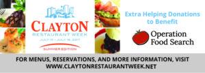 Clayton Restaurant Week - 2017 Summer Edition