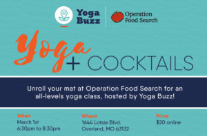 Yoga + Cocktails at Operation Food Search