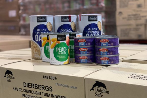 Canned food donation from Dierbergs