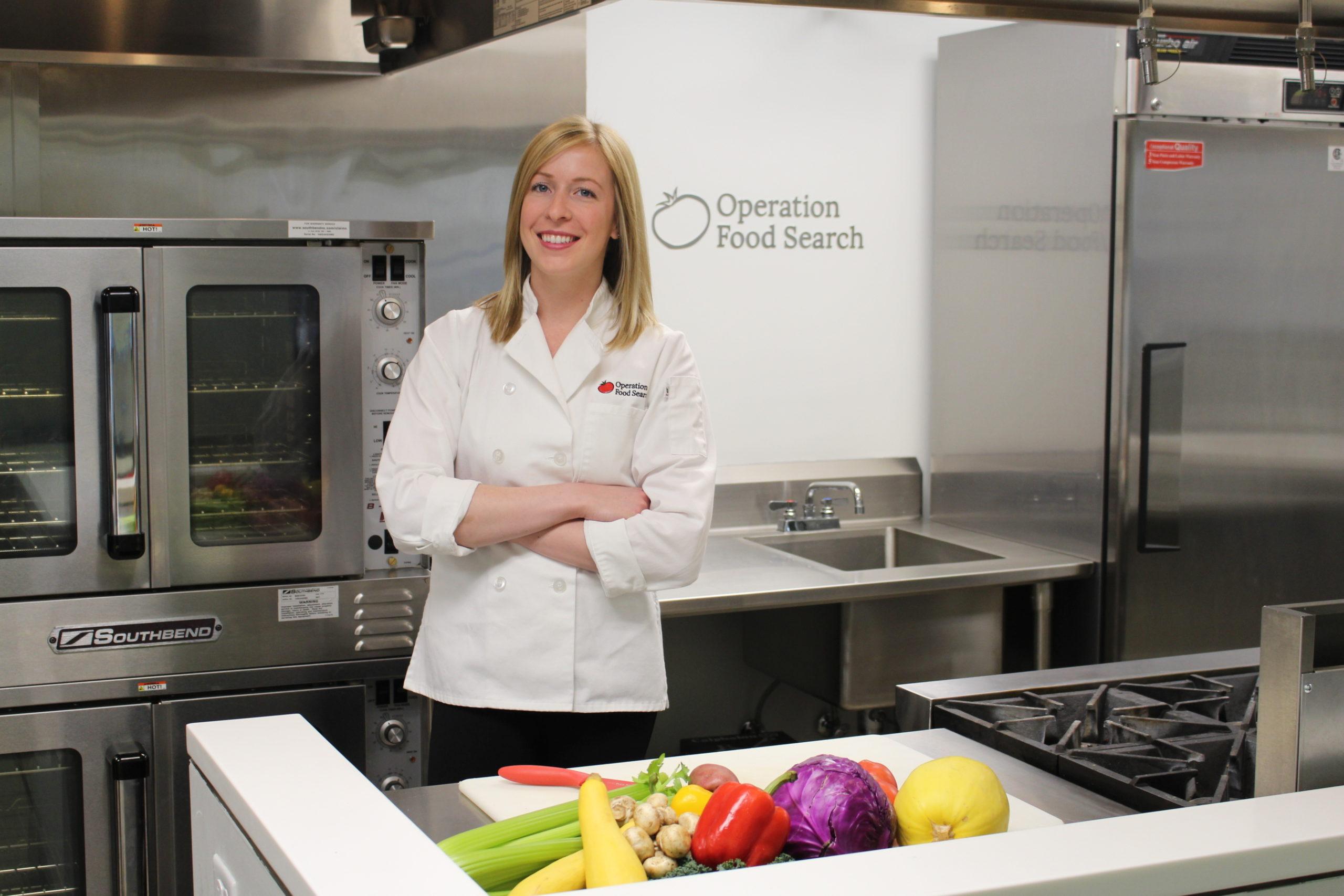 Chef preparing for nutrition education
