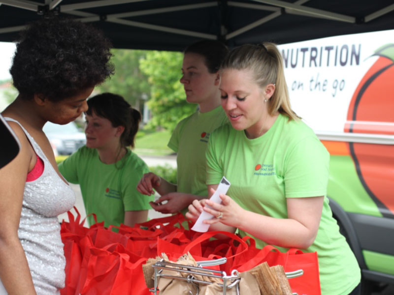 Group of volunteers for an OFS donation event